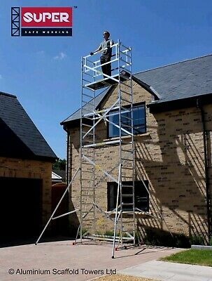 £100 • Buy #HIRE ONLY# DIY 7.2M (5 In ONE) - Aluminium Scaffold Tower