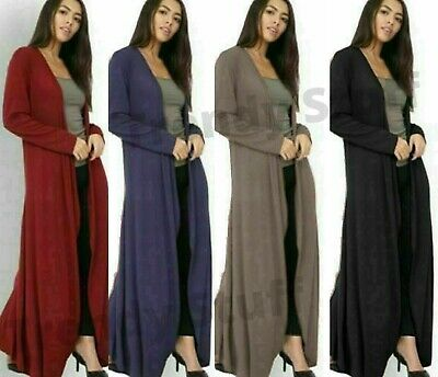 £11.89 • Buy Womens Long MAXI Knitted Oversized Cardigan Ladies Long Sleeve Open Plus Size