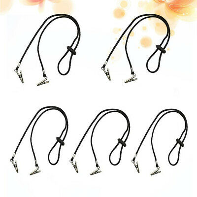 £14.91 • Buy 5pcs Napkin Clips Bib Reusable Durable Chain For Dining Hall Dental Clinic Home