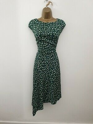 AU64.89 • Buy Jigsaw UK Size 14 Green Floral Smart Occasion Party Dress - Womens
