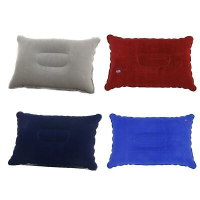 AU3.78 • Buy Inflatable PVC And Nylon Pillow Soft Air Blow Up Sleep Camping Cushion F6O6