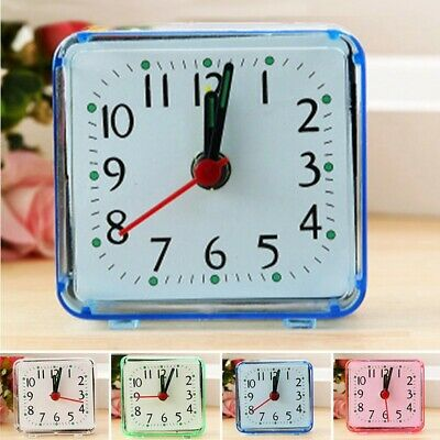 £3.92 • Buy Square Home Travel Alarm Clock Trip Bedside Ring Bell Portable Luminous Pointer