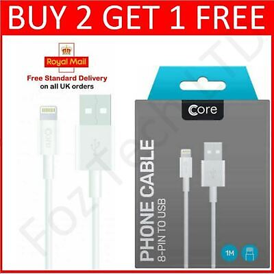 £1.96 • Buy USB IPhone Charger Fast For Apple Long Cable USB Lead 5 6 7 8 X XS XR 11 12 Pro