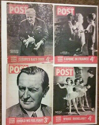 £28 • Buy WW2 Vintage Picture Post Magazines Four World War 2 Issues 1940/43/44/45 (439)