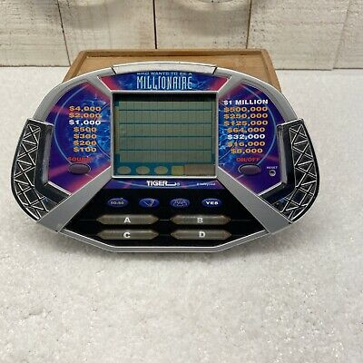 £9.44 • Buy Who Wants To Be A Millionaire Handheld Electronic Game Tiger Works Includes 3AAA