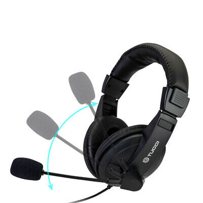 £10.99 • Buy Light-Weight Wired Headset Headphones With Microphone For PC Laptop Skype Zoom U