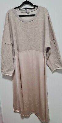 AU11.50 • Buy ASOS Biege Dress UK 26 Silky And Cotton Pre Loved In Good Condition