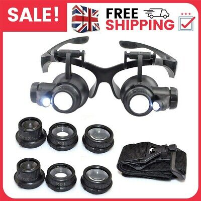 £9.49 • Buy 25X Magnifying Eye Glass Watch Repair Magnifier Jeweler Loupe Kit W/LED Light A+