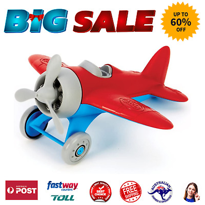 AU25.50 • Buy Green Toys AIRR-1026 Fun Airplane Toys For Kids - Red 9 Inches