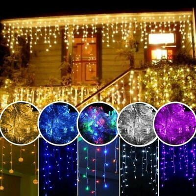 AU19.22 • Buy LED Icicle Snow Falling Outdoor String Lights Fairy Curtain Wedding XMAS Party