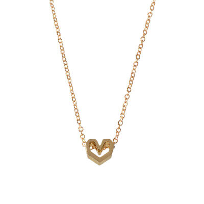 AU1 • Buy Gold Silver Simple Love Heart Charm Necklace Minimalist Wedding Party Jewellery