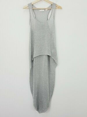 AU120 • Buy SASS & BIDE Womens Size L Or 14 Silver Kiss The Sky Long Knit Top