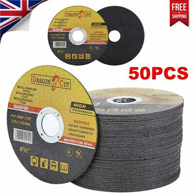 £13.99 • Buy 50x 115mm 4.5  Metal Cutting Blade Disc Stainless Steel Angle Grinder Thin 1mm