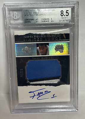 AU4128.89 • Buy Tracy Mcgrady 2003-04 UD Exquisite Collection Limited Logos 3-C Patch Auto #/75