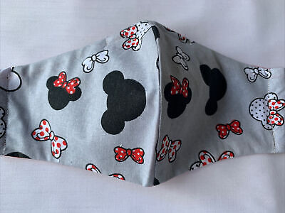 £2.49 • Buy Handmade Adult  Face Mask 100 % Cotton Disney Minnie Fabric With Filter Lining