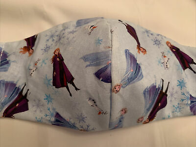 £1.99 • Buy Handmade Fun Adult Face Mask  Disney Frozen Fabric  With Sewn In Filter Lining