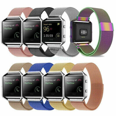 AU19.09 • Buy For Fitbit Blaze Strap Replacement Band Metal Buckle Watch Silicone Wristband