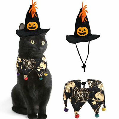 £7.99 • Buy Halloween Pet For Dog Cat Bat Outfit Party Fancy Dress Cosplay Funny Costume UK