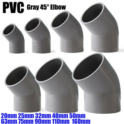 £2.03 • Buy PVC Water Supply Pipe Fittings 45° Elbow Coupling Connector 20mm To 160mm Grey