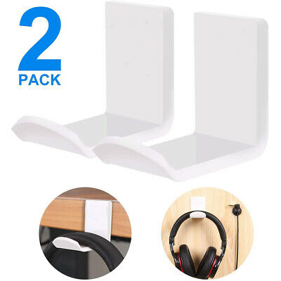AU9.66 • Buy 2pcs/pack Non Slip Headphone Stand Home Hanging Gaming Headset Wall Mounted