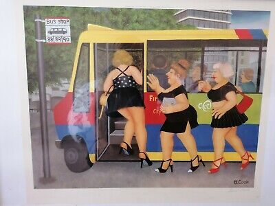 £150 • Buy Beryl Cook Signed Limited Edition Print Bus Stop