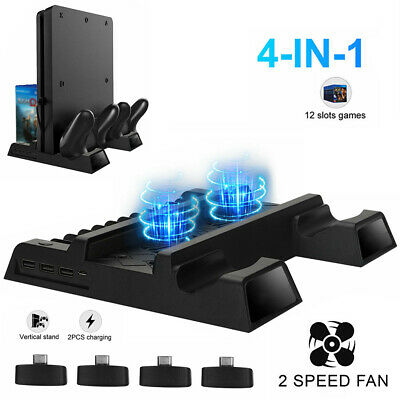 AU38.59 • Buy For PS4 Pro/Slim Vertical Stand + 2 Cooling Fan Controller Charging Dock St