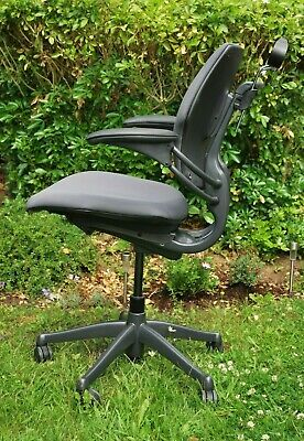 £125 • Buy humanscale Freedom Office Task Operator Chair Grey & Rear Coat Hanger Accessory