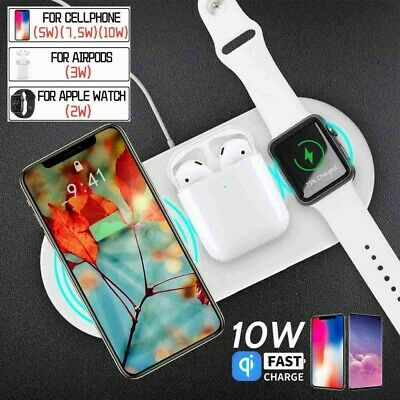 AU22.69 • Buy 3 In 1 Wireless Charger Charging Station Dock For Airpods IPhone Samsung Huawei