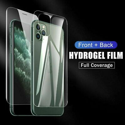 AU13.99 • Buy 2pcs Front +Back Hydrogel Screen Protector Film For IPhone 13 12 11 Pro Max Mini