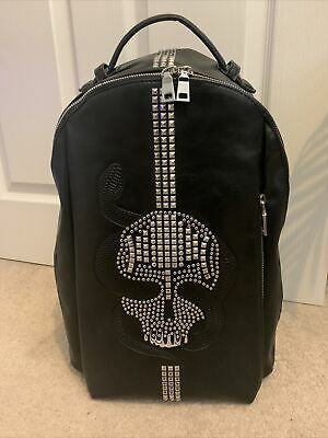 £199 • Buy ZARA Black Backpack With Studded Skull & Laptop Compartment [Collection 2017]