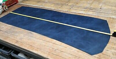 £9.99 • Buy Black & Blue Distressed HIDE Butt Split Leather Panel 3.1mm Thickness LOT 2223