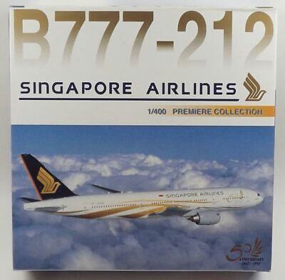 AU59.06 • Buy Dragon Wings 55028 Singapore Airlines Boeing 777-212ER 1/400 Scale Diecast Model