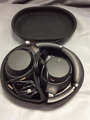 AU57.49 • Buy Sony WH1000XM3 Wireless Noise Cancelling Headphones In Black | On Ear Bluetooth