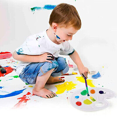 £7.30 • Buy 6pcs Kids Adults Space Saving Art Supplies Paint Pallet 10 Wells With Thumb Hole