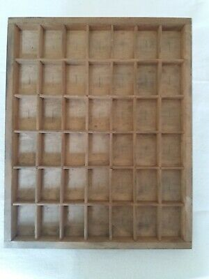 £10 • Buy Printers Letterpress Type Case/tray 42 Compartment Collectors Display Case. Used