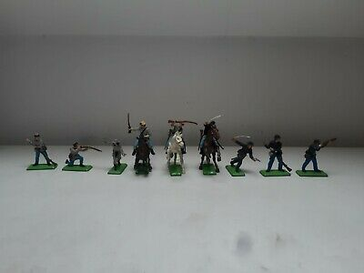£9.01 • Buy Vintage Toy Soldiers. Britains Deetail. Acw Union Confederate. Horses.
