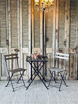 AU165 • Buy 3 Piece Timber Slat Outdoor Setting Table & 2 Chairs