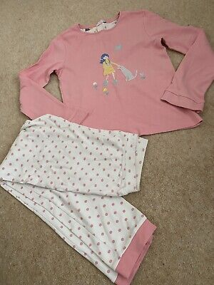 AU3.66 • Buy John Lewis Young Girls Pink And Cream Patterned Pyjamas Age 11 Years