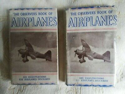 £122 • Buy The Observer's Book Of Airplanes 1942 And 1945 Editions