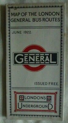 £4.50 • Buy Map Of The London General Bus Routes: London's Underground: June, 1922