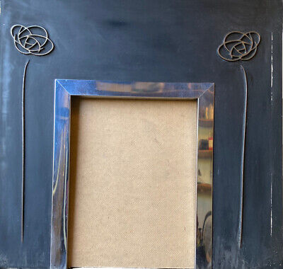 £15 • Buy Fire Surround Back Panel Cast Iron, Art Deco Design, With Wooden Surround