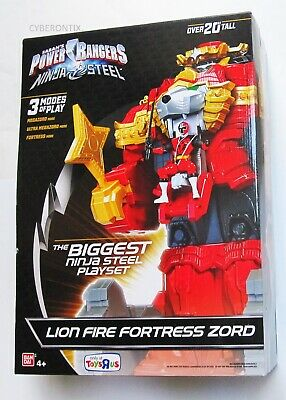 £60.42 • Buy Power Rangers HUGE Play Set Lion Fire Fortress Zord For Action Figures NEW