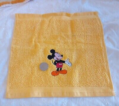£1.90 • Buy Embroidered Micky Mouse On A Yellow FaceCloth / Flannel