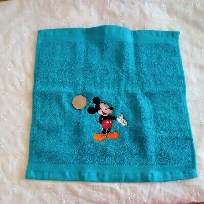 £1.90 • Buy Embroidered Micky Mouse On A  Blue Face Cloth / Flannel