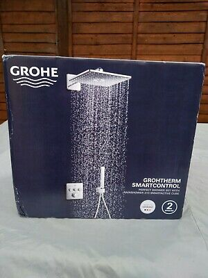 £482 • Buy Grohe Grohtherm Concealed Thermostatic Mixer Shower With Square Wall Mounted Sho