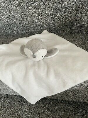 £19.99 • Buy Mamas And Papas Penguin White Grey Comforter Blankie Blanket Soft  Toy
