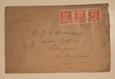 £12 • Buy 1942 Guernsey Occupation Stamps On Cover. Unusual 3d Rate. From Guernsey Savings