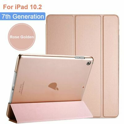 £4.99 • Buy Tablet Case Rose Gold For IPad 10.2 2019 7th Smart Case Leather Stand Flip Cover