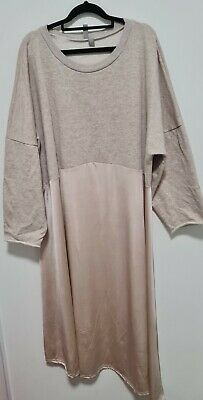 AU11 • Buy ASOS Biege Dress UK 26 Silky And Cotton Pre Loved In Good Condition