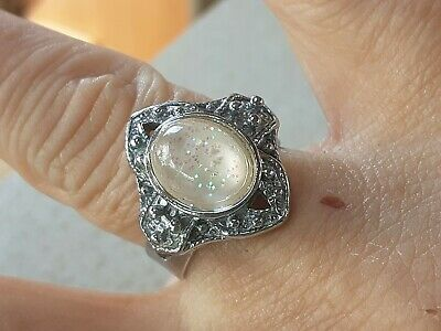 £0.89 • Buy Sweet Stocking Fillers 4 Xmas 89P Specail, Glittery Caboc Silver Ring, Size ADJ